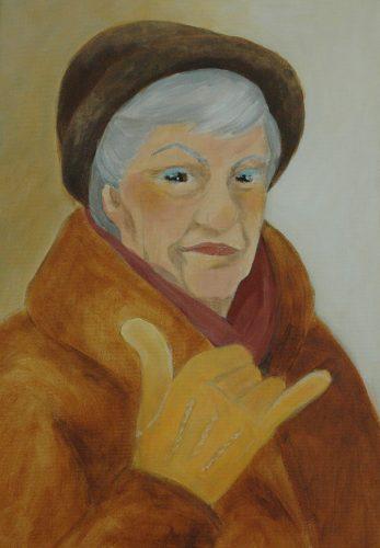 Gudrun.<br>Acrylmålning<br>30x45 cm