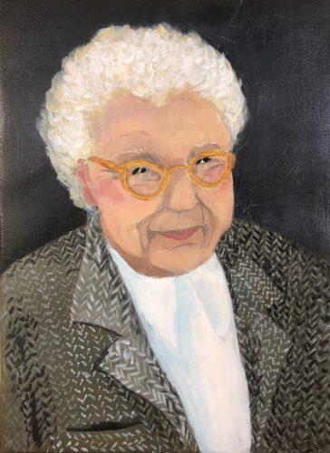 Fröken.<br>Acrylmålning<br>24x33 cm