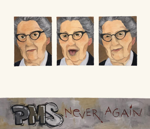 Glöm PMS<br>Akrylmålning på linneduk<br>74x65
