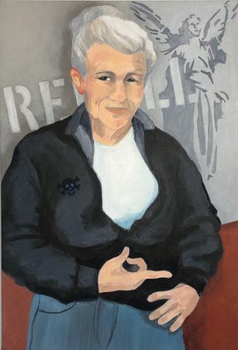Jane D.Ehn<br>Akryl på linneduk<br>64x93 cm