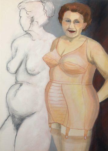 Kvinnliga former. <br>Acrylmålning<br>50x70 cm