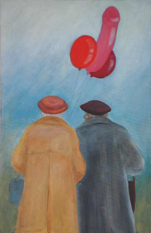 Ballongfjong. <br>Acrylmålning<br>SÅLD