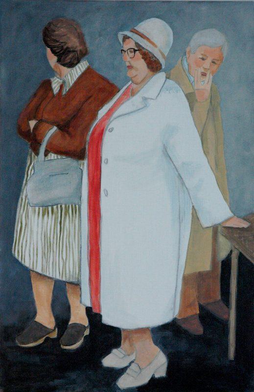 Hulda matrona. <br>Acrylmålning<br>52x79 cm.