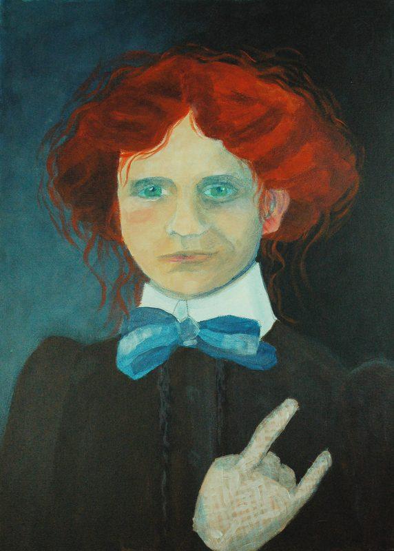 Redhead rocks.<br>Acrylmålning<br>47x64 cm.